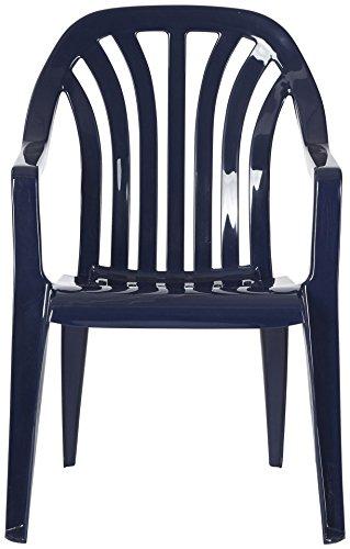 BEST Gartensessel »4 Stück« 4 Stühle, blau