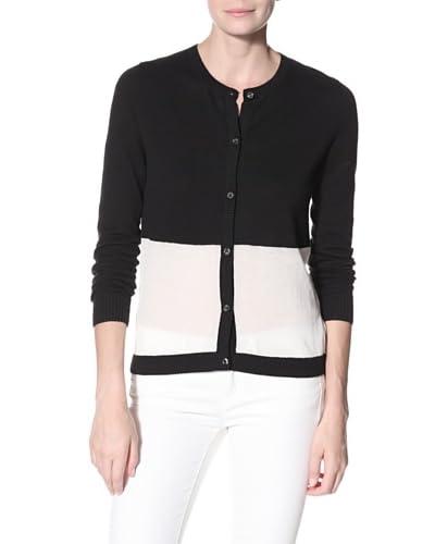 Shae Women's Bird Long Sleeve Sweater  - Black/Mist