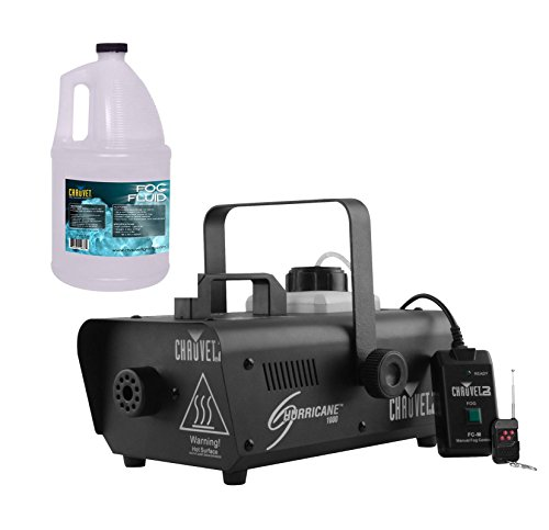 CHAUVET DJ Hurricane 1000 Fog Machine w/Wired & Wireless Remote + FJU Fog Fluid (Dj Fog Machine)