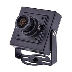 Neewer 10 IR LED 3.6mm 600TVL CMOS Micro CCTV Surveillance Monitoring Camera PAL SV-H02-Ideal for Home Shop Warehouse Office Black