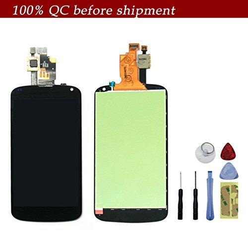 For Lg Nexus 4 E960 Generic Oem Full Set Lcd Screen Replacement Digitizer Assembly Display Monitor Touch Panel Black + Free Repair Tool Kits [Ships From Usa]