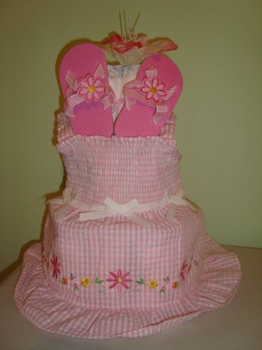 Diaper Cake With Flowers