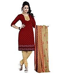 The Ethnic Chic Red Colored Cotton Suit