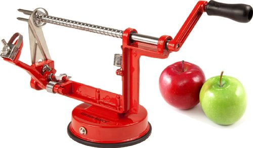 Kitchen Basics® Quick Triple Feature Heavy Duty Apple Peeler, Slicer & Corer / Peel, Slice And Core Simultaneously...