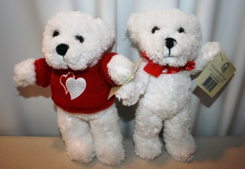 Stuffed Valentine Love Bear Set Princess Soft Toys