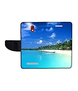 KolorEdge Printed Flip Cover For HTC Desire 500 -Multicolor (45KeMLogo11114HTC500)