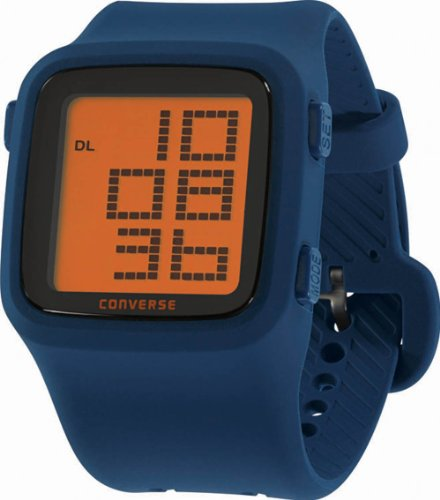 Converse Men's VR002410 Scoreboard Classic Digital and Navy Silicone Strap Watch