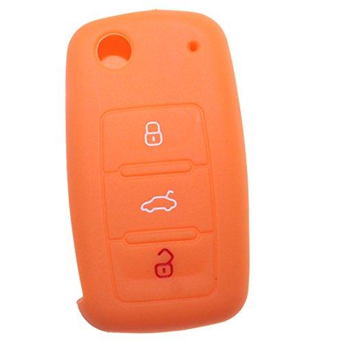 """""""Portachiavi"""" """", colore: arancione, per VW Volkswagen Tiguan T5 Polo Golf Caddy Up VW Beetle"""