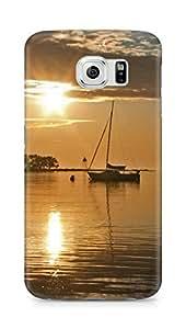 Amez designer printed 3d premium high quality back case cover for Samsung Galaxy S6 (Coast Beach Line Evening)