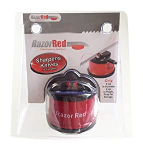 Best Knife Sharpener - Sharpen Kitchen Knives Quickly, Serrated and Even Scissor... by Razor Red
