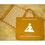 Original Acupressure Mat in a Unique Gift Box (EARTH organic cotton spike acumat with cotton carry bag)