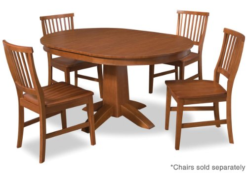 Buy Low Price Home Styles Arts and Crafts Round Dining Table in Cottage Oak (88-5180-30)