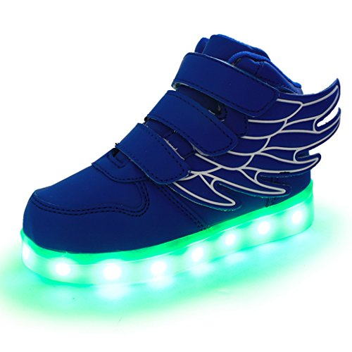 DoGeek-Zapatos-Led-Nios-Deortivos-Para-7-Color-USB-Carga-LED-Luz-Glow-USB-Flashing-Zapatillas-nias-Elegir-1-tamao-ms-grande