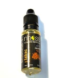 E-Liquide TABAC BLOND, sans nicotine, pour Cigarette Electronique Rechargeable, Flacon 20ml