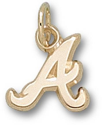 Atlanta Braves 10K Gold ''A'' 3/8'' Pendant