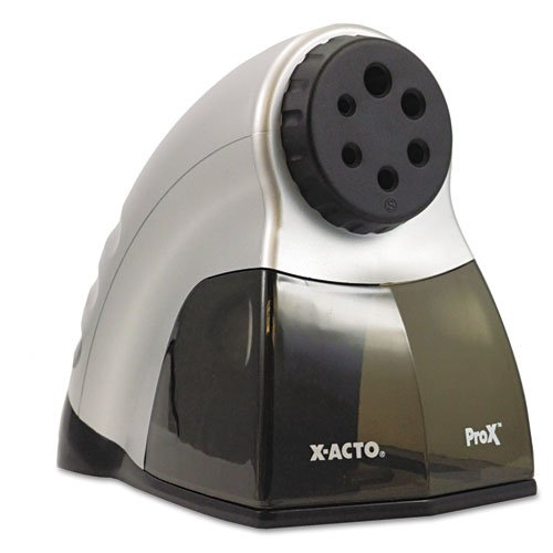 X-Acto - Prox Electric Pencil Sharpener, Silver/Black 1612 (Dmi Ea