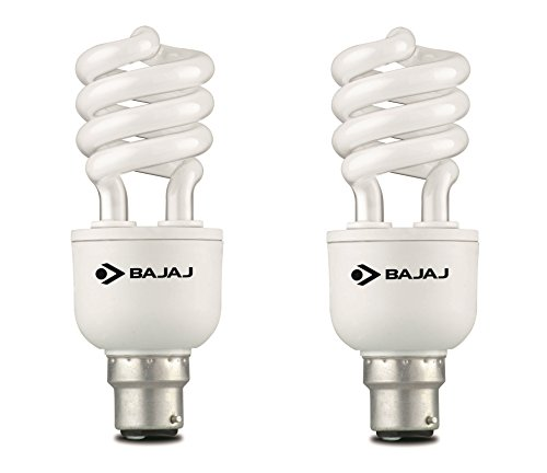 Spiral Retrofit Miniz 15 Watt CFL Bulb (Cool Day Light,Pack of 2)