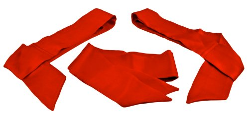 Fantasy Silk Sash Restraint Set (Set of 3) | 100% Pure Silk Scarf Restraints (Red)