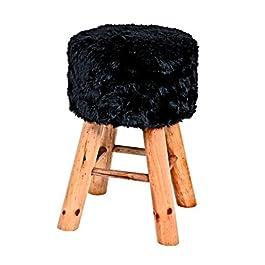 Haku Möbel 30563 taburete de madera, 49 x 32 cm, colour negro