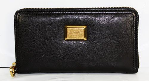 Marc Jacobs Q49 Large Zip Around Wallet Black
