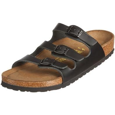 Birkenstock Florida Smooth Leather, Style-No. 154471, Women Clogs, Black, EU 36, normal width