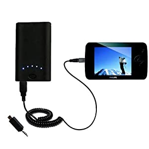 High Capacity Rechargeable External Battery Pocket Charger for the Philips GoGear SA6185/37 - uses Gomadic TipExchange Technology