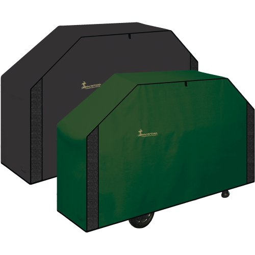 Classic Series Reversible BBQ Grill Cover (Green, Large)