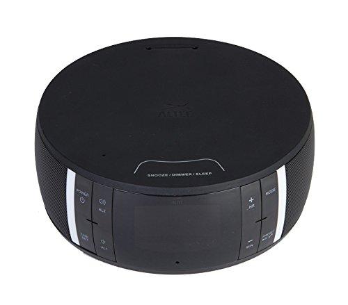 Altec Lansing Bluetooth Clock Radio Speaker, Black (Imw465)