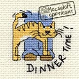 Mouseloft Mini Cross Stitch Kit Dinner Time Biscuit the Cat Collection