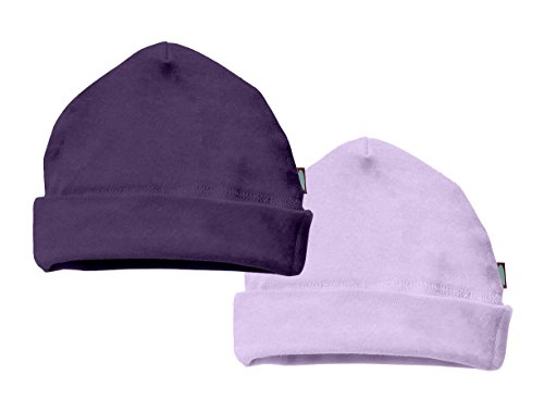 City Threads Unisex Baby Beanie Cap Hat 2-Pack 100% Cotton Newborn and Infant