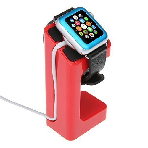 EasySMX Apple Watch Stand Charging Stand Bracket Docking Station Stock Cradle Holder for Both 38mm and 42mm (Red)