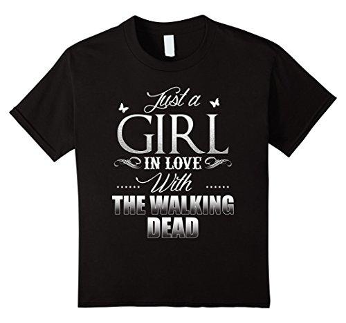 kids-dea-d-just-a-gi-rl-in-love-wi-th-the-walk-ing-t-shirt-10-black
