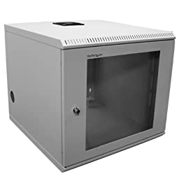 StarTech.com 10U 19-Inch Wall Mounted Server Rack Cabinet CAB1019WALL (Beige)