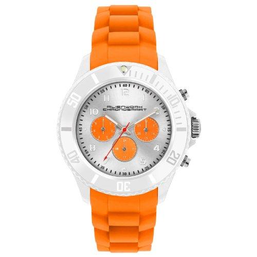 Alienwork Chronosmart Quartz Watch Multi-function Wristwatch Silicone orange orange