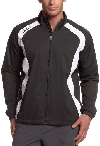 ASICS ASICS Men's Caldera Warm Up Running Jacket,Black/White,XX-Large