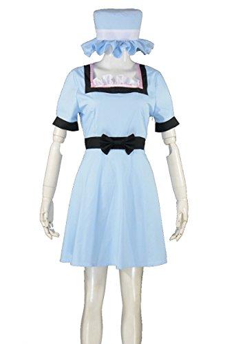 [RedstarCosplay Steins Gate Makise Kurisu Cosplay Costume - Custom-made] (Kurisu Makise Cosplay Costume)