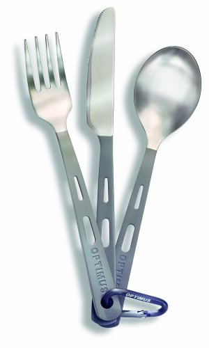Optimus Titanium 3-Piece Cutlery Set (Fork, Knife, Spoon)