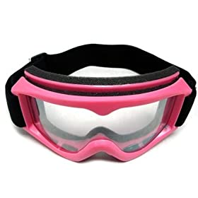 a65e5cf78e Adult PINK GOGGLES Motocross MX Dirt Bike ATV Off-Road (2718-P)  Automotive