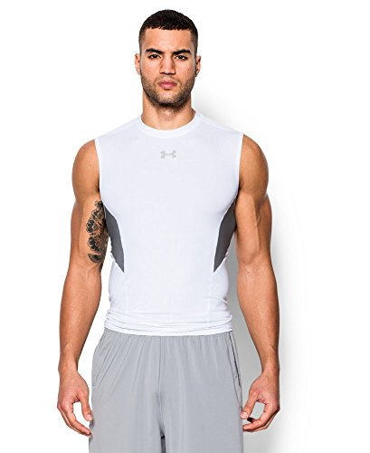 Under Armour Men's CoolSwitch Armour Sleeveless Compression Shirt, White (100), X-Large