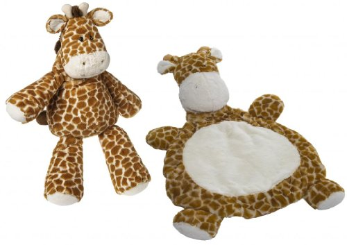 "Marshmallow Zoo Giraffe 26"" Plush Toy With Baby Mat front-997664"