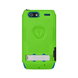 Trident Build Your Own KRAKEN A.M.S. Case for Droid Razr Maxx - Retail Packaging - Green/Blue