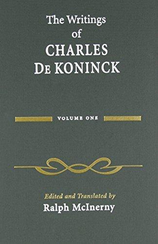the-writings-of-charles-de-koninck-volume-1-by-charles-de-koninck-2008-05-30