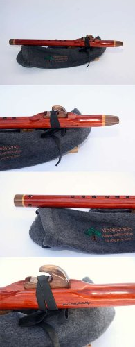 Concerto Low C - Padauk, Walnut & Cherry Native American Style Flute