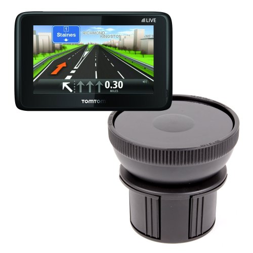 Duragadget Anti-Shock / Vibration & Adjustable In Car Cup Holder Smart Mobile Phone Mount Ideal For Tomtom Go 6000 / Tomtom Go 5000, Magellan Roadmate 1700Lm & Rand Mcnally Tnd 720 Lm