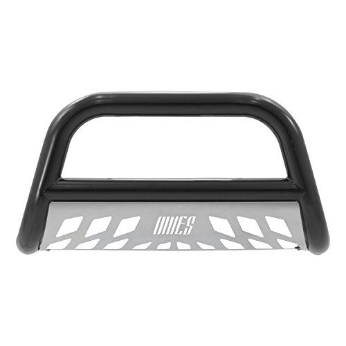 Aries B35-4001 Black  Bull Bar with Stainless Steel Skid Plate (02 Silverado Bull Bar compare prices)