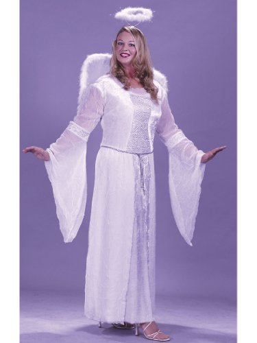 Plus Size White Angel Costume Theatre Costumes