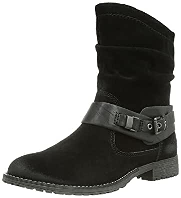 Marco Tozzi Premio 25423, Damen Halbschaft Stiefel, Schwarz (Black Antic / 2), 36 EU (3.5 Damen UK)