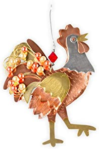 Pilgrim Imports Reggie Rooster Metal Fair Trade Ornament