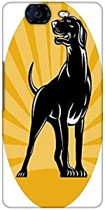 Snoogg Pointer Dog With Sunburst Retro Style Designer Protective Back Case Co...