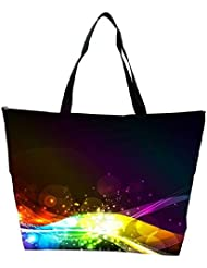 Snoogg Abstract Shiny Wave Background Ic Rgb Waterproof Bag Made Of High Strength Nylon